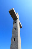 Concrete cross with blue sky in Rhodes Stock Images
