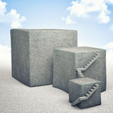 Concrete cube Royalty Free Stock Image