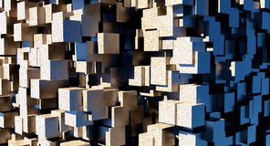 Concrete cubes Stock Photo
