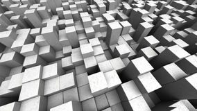 Concrete cubes background. Abstract 3d illustration of concrete cubes background Stock Illustration