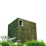 Concrete cubic house Royalty Free Stock Image