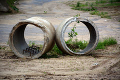 Concrete culvert Royalty Free Stock Photos