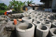 Concrete culvert Stock Photo