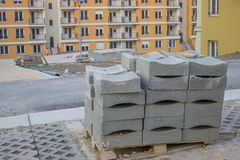 Concrete Curb block on the pallet Stock Photography