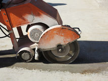 Concrete cutter Royalty Free Stock Photo