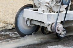 Concrete cutting machine. Concrete,cutting,machine,circular,industrial Royalty Free Stock Image