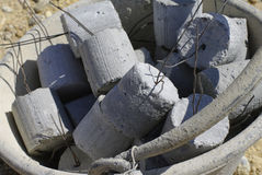 Concrete cylinder Stock Photo