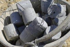 Concrete cylinder stock photo