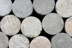 Concrete cylinders. Was prepared for construction royalty free stock images
