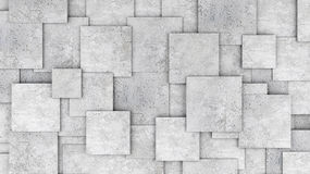 Concrete 3d cube wall as background or wallpaper. 3D rendering Royalty Free Stock Images
