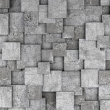 Concrete 3d cube wall background. 3D rendering Royalty Free Stock Photography