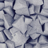 Concrete 3d cube wall background. 3D rendering Stock Photos