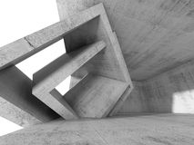 Concrete 3 d room with cubic interior structures Royalty Free Stock Photo