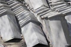 Concrete dakwerkstapels Stock Afbeelding