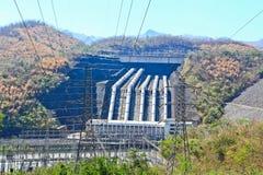 The concrete dam Royalty Free Stock Photos