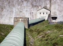 Concrete dam Stock Image