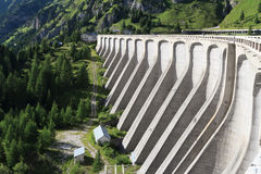 Concrete dam - lake Fedaia Stock Photos