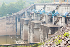 Concrete dam made for water and electric current supply. Stock Photography