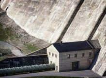 Concrete dam Stock Images