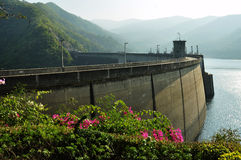 Concrete Dam in north of Thailand Stock Photos