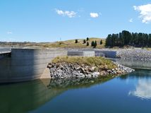 The concrete dam in the Snowy river Royalty Free Stock Photos