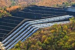 The concrete dam Stock Photos