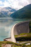 Concrete dam wall of Kaprun power plant. (no people), Salzburg Alps, Austria Stock Images