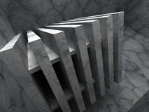 Concrete dark architecture abstract construction background Royalty Free Stock Photo