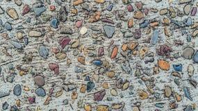 Concrete de textuur kleurrijke achtergrond van grintstenen Stock Afbeeldingen