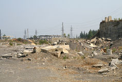 Concrete debris Stock Images