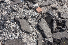 Concrete debris on construction site Stock Photography