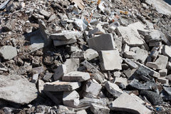Concrete debris on construction site Royalty Free Stock Photography