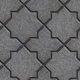 Concrete Decorative Pavement. Seamless Tileable Texture. Concrete Gray Pavement in the form of quatrefoils and octagonal stars. Seamless Tileable Texture royalty free stock photos