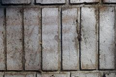 Concrete decorative wall elements. Abstract architecture decorative wall elements Stock Image
