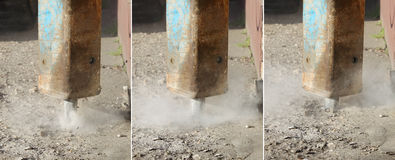 Concrete demolishing Royalty Free Stock Photography