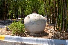 A concrete demolition ball Stock Photos