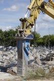 Concrete demolition Royalty Free Stock Photos