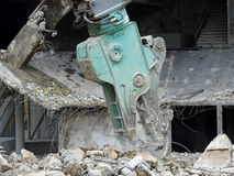 Concrete demolition machine Stock Photos