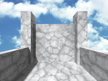 Concrete design architecture abstract background Royalty Free Stock Photos