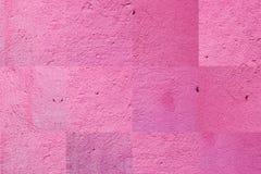 Concrete die muurtextuur in roze kleur wordt geschilderd abstracte achtergrond Royalty-vrije Stock Foto