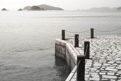 Concrete dock. royalty free stock photos