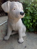Concrete dog. Sculpture of dog made from the  concrete Stock Photo