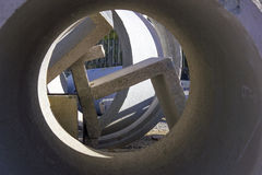 Concrete drain pipe Stock Photo