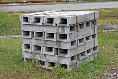 Concrete drainage channels Royalty Free Stock Photography