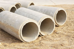 Concrete Drainage Pipe Stock Photography