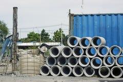 Concrete Drainage Pipe Stock Image