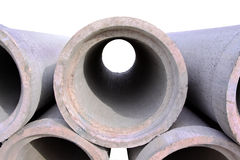 Concrete drainage pipes Stock Image