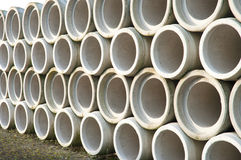 Concrete drainage pipes Royalty Free Stock Photo