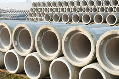Concrete drainage pipes Royalty Free Stock Images
