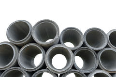 Concrete drainage pipes Stock Photography